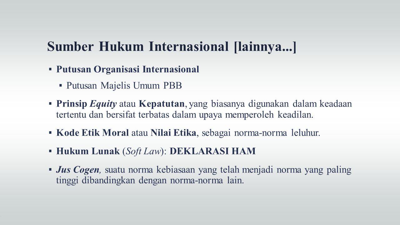 Sumber Hukum Internasional [lainnya...]